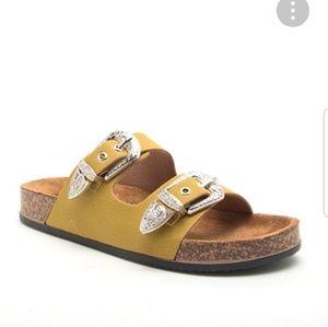 Shoes - Vegan Mustard Slides